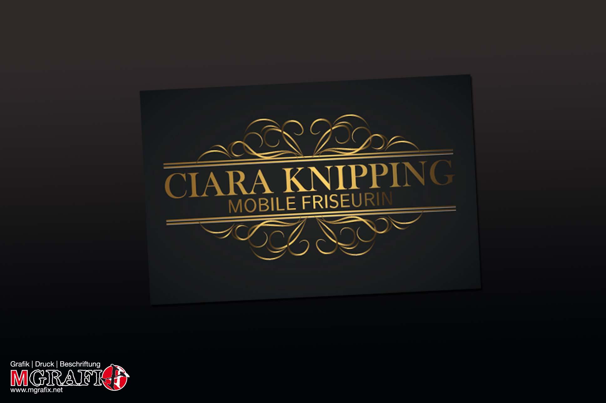 Logoentwurf für Ciara Knipping